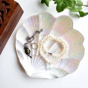 Opalescent Scallop Shell Catchall Trinket Tray